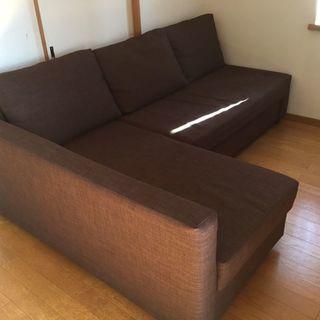 【中古】IKEA コーナーソファベッド収納付き FRIHETEN...