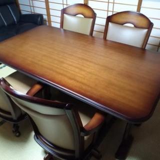ダイニングテーブルセット 椅子4脚