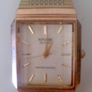 【送料無料】金色腕時計 アナログ・クオーツ