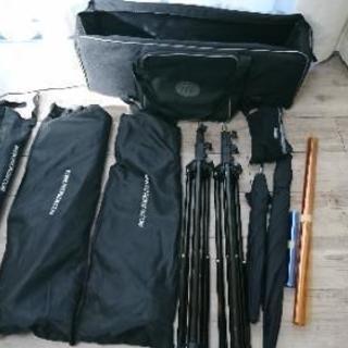 撮影照明機材セット スタンド ディフューザー バンク 傘