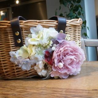 【初心者歓迎】お花の籠バック