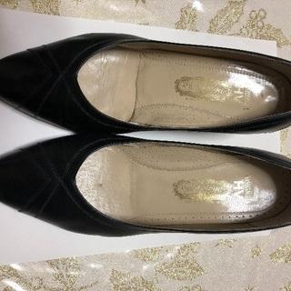 美品】¥2980銀座ヨシノヤ 婦人靴 パンプス 黒(24.5)