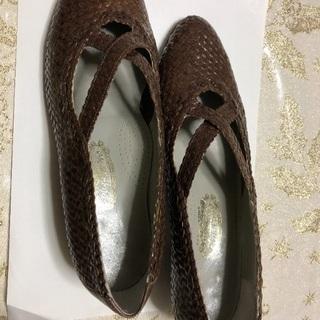 美品】値下げ¥2780銀座ヨシノヤ 婦人靴 パンプス モカ茶(2...