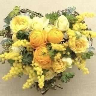 【季節限定】黄色の妖精☆ミモザと春のお花のアレンジ