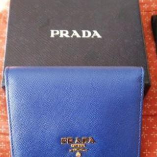 新品 PRADA お財布(ネイビー)