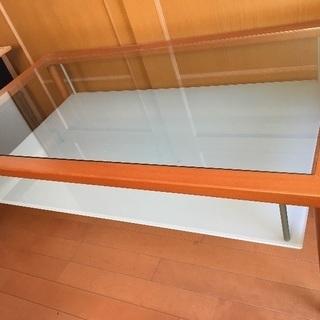 ガラステーブル 未使用 イタリア家具 calligaris