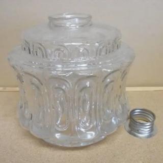 レトロガラス ランプシェード モダンデザイン 金具あり