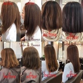 """""""美髪プロフェッショナル""""美容室。繰り返されるカラーやパーマで傷..."""