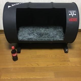 ドラム缶リメイク犬小屋の画像
