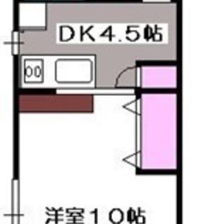 【ベルアンジュール202号室・1DK】仲介手数料0円!礼金0円!...