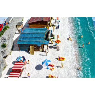 ジオコレ Nゲージ 海水浴 ジオラマ 完成品 模型 海の家