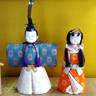 ひな人形 雛人形 久月 立雛 木目込み