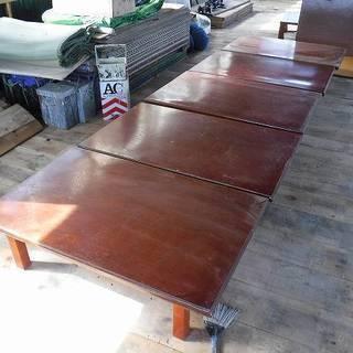 福島県発 中島村発 木製のテーブル 折りたたみ式 5枚 中古品 ...