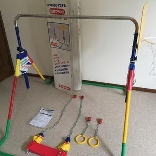 【子供用室内遊具】ポップンロール 鉄棒 ブランコ つり輪 バスケ...