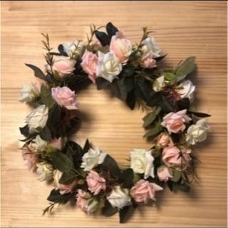 花輪 リース 美品 造花