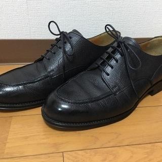 Uチップビジカジ革靴 シューズ