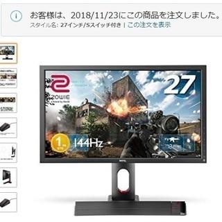 パソコン ゲーミングモニター benq xl2720