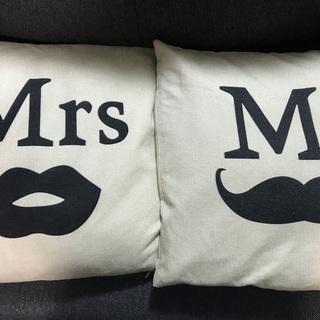 Mr&Mrs(ミスター&ミセス) クッション クッションカバー ...
