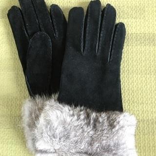 [新品・未使用品] 手袋 ブラック ファー ユナイテッドア…