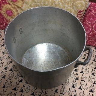 値下げました!中古 大きなアルミ製 20L寸銅鍋♪