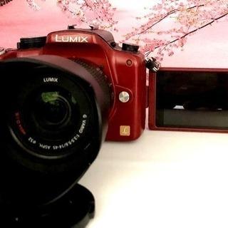 大人気レッド❤️自撮り&高機能❤️パナソニック LUMIX G1...