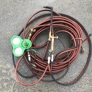 ガス切断・溶接 一式セット アセチレン 酸素 管理番号2601