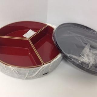 むすび丸型 オードブルセット 合成漆器 直径25cm
