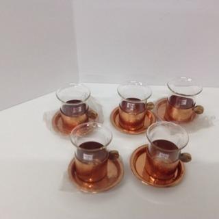 耐熱性グラス5個セット(コーヒー、熱燗、ホットウイスキー等)約1...