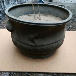 火鉢 骨董 火箸付き