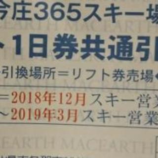 今週中限定!リフト1日券 2枚セット 今庄365スキー場 福井県...
