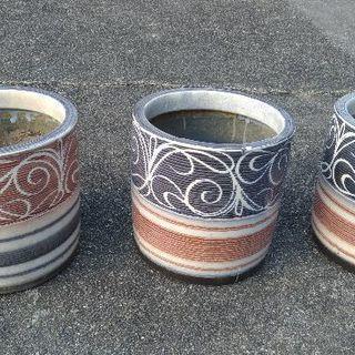 火鉢 3個