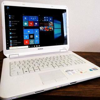 人気のVAIOホワイト Windows10ノートパソコンoffice