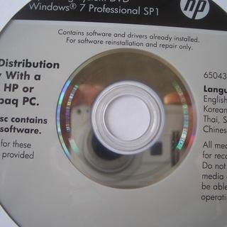 windows7 Pro sp1 32bitインストールディスク...