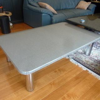 座卓テーブル★テーブル★人工石★長さ 120×幅 75cm×高さ...