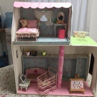 🎀 ハンドメイド 🎀  家具付き 人形 ハウス リカちゃん ジェ...