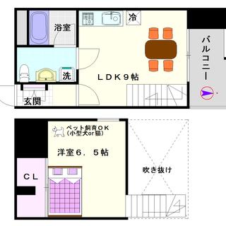 【SONIX2015】3号タイプ!1LDKメゾネットタイプ!かっ...