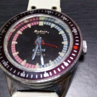 珍品「腕時計形目覚時計」アンティーク