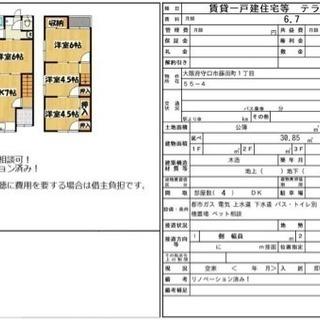 守口市藤田町 リノベーション貸家です。
