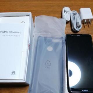 Huawei novalite2 黒 simフリースマホ 使用11ヶ月
