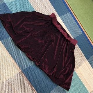 Nomine ベロア赤スカート