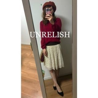 ☆UNRELISH☆アンレリッシュ  レオパード柄プリーツスカート