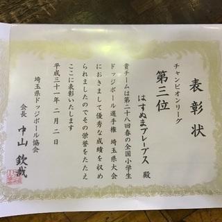 部員大募集!  さいたま市  小学生のドッジボールチーム − 埼玉県