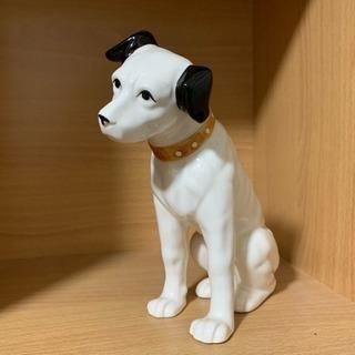 昭和レトロ‼️ビクター レコード ニッパー 犬 陶器 置物 希少...