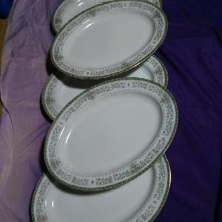 洋皿・大皿5枚セット、単品1枚