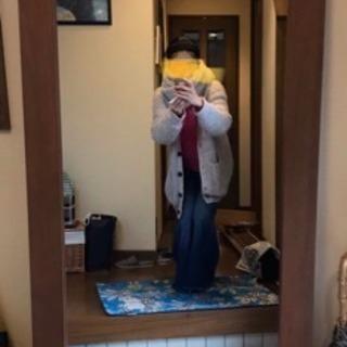 無垢木枠の大きな鏡 玄関に。インテリア
