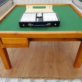 雀卓✨麻雀 マージャン 折り畳みテーブル 卓上テーブル 雀板 牌付