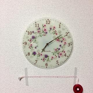 花柄の時計