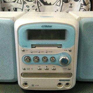 【スピーカー部分キズ有】MDCDカセットコンポ2008年製【リモ...