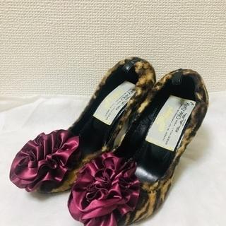 【超美品】ピッピPippi 高級ハラコレオパード&サテンコサー...