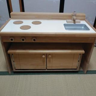 木製キッチン、リバーシブル机